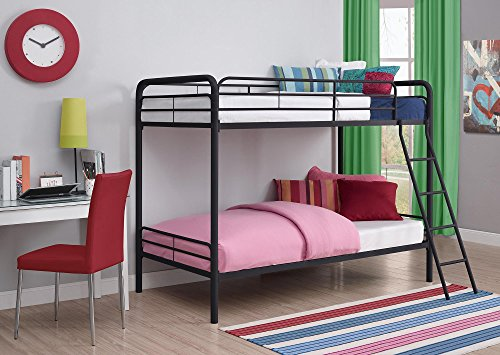 Dhp Twin Over Twin Bunk Bed With Metal Frame And Ladder