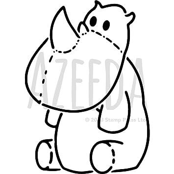 a4 cute rhino wall stencil template ws00034447 amazon co uk