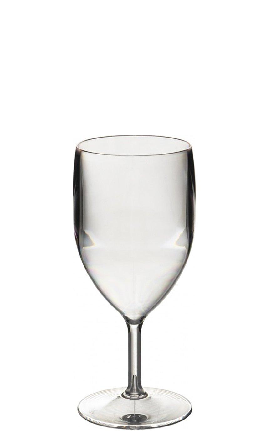 bicchieri da vino grandi in policarbonato Set da 6 Bicchieri riutilizzabili 315 ml altezza del bordo 16,1 cm diametro massimo 7,7 cm Virtually Glass