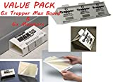 6 Trapper Max Glue Board Traps & 6 Insect Monitor NON-TOXIC Bed Bugs Spiders Cockroaches Rodents