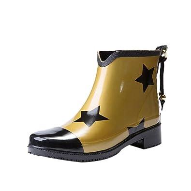 Haodasi Ladies Mode Wasserdicht Regenstiefel Damen Rutschfest Gummistiefel Schneestiefel Regen Schuhe Wasser Schuhe Winter Stiefel qvvlDqFbWb