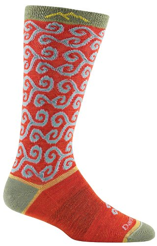Darn Tough Lifestyle Spirals Light Sock - Women's Tomato Medium