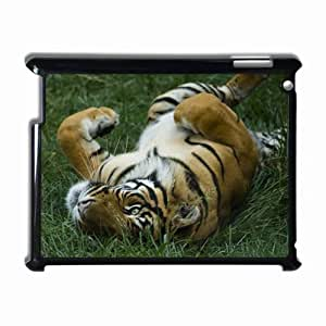 Customized Back Cover Case For iPad 2 3 4 Hardshell Case, Black Back Cover Design Tiger Personalized Unique Case For iPad 2 wangjiang maoyi