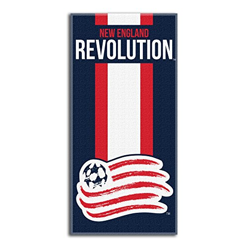 fan products of Officially Licensed MLS New England Revolution Zone Read Beach Towel, 30