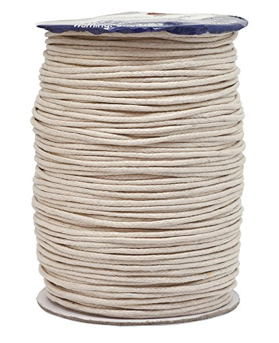 Cream Rope (Mandala Crafts 1.5mm 109 Yards Jewelry Making Beading Crafting Macramé Waxed Cotton Cord Rope (Cream))