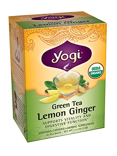 Yogi citron et au gingembre thé vert, 16 sachets de thé (pack de 6)