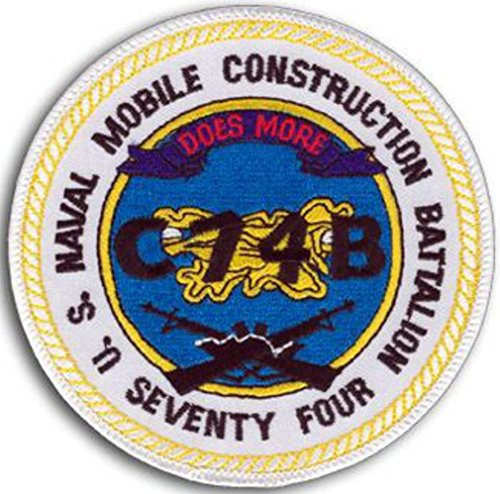 Naval Mobile - NAVAL MOBILE CONSTRUCTION BATTALION NMCB 74 Patch - Veteran Owned Business