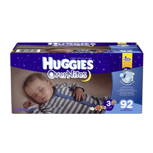 Huggies Overnites Couches, taille 3, 92 comte