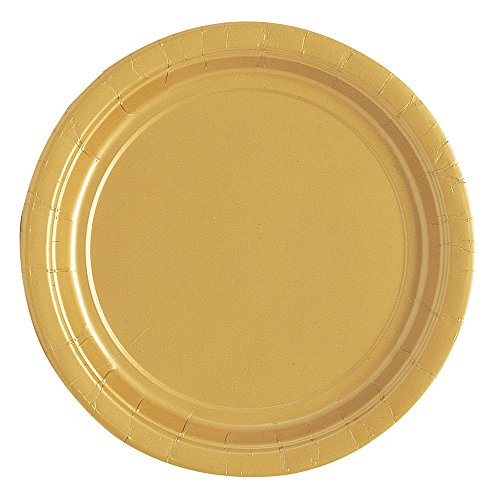 Gold Paper Cake Plates 25ct