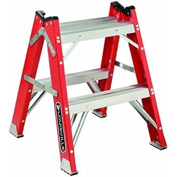 Louisville Ladder L 3433 02 Fiberglass Twin Front Step