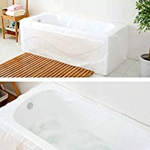 TFY Ultra Large & Strong Disposable Bathtub Bag for Household and Hotel Bath Tubs and Salon (78 inch x 47 inch) – 5 pieces