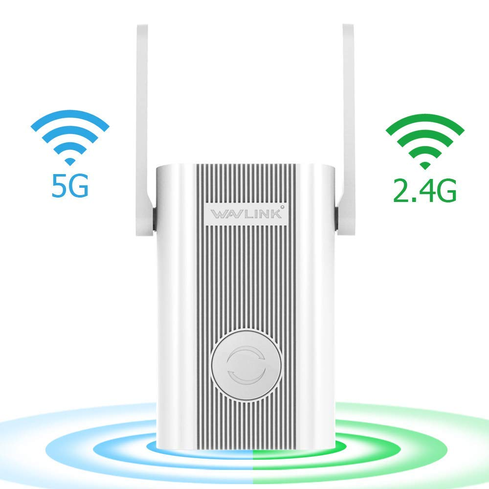 Wavlink WiFi Extender,WiFi Range Repeater 1200Mbps High Speed Signal Booster 2.4G + 5Ghz Dual Band Wi-Fi Amplifier Repeater with WPS by WAVLINK