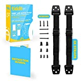 FLASH SALE | tiddö Anti-Tip Safety Wall Anchor Straps for TVs and Furniture Belts, Baby Proofing Anti Tip Flatscreen TV Strap with VESA Screws
