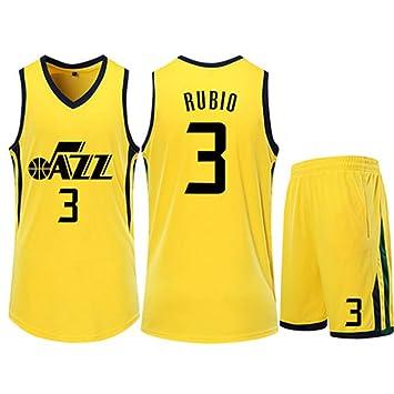 HS-ZGC Camiseta de Baloncesto para Hombre NBA Phoenix Suns Ricky Rubio # 3 Fans Ropa Deportiva Camiseta sin Mangas Chaleco Pantalones Cortos Amarillo Tamaño 3XS ~ 5XL,2XS(136~144cm): Amazon.es: Hogar
