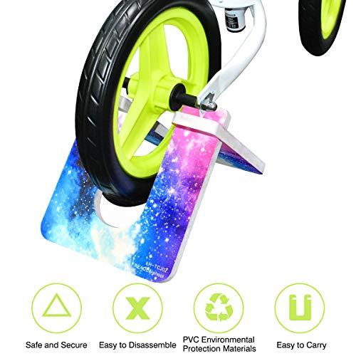Mewtwo Child Balance Bike Stand, Foldable Portable Bike Parking Rack Balance Bicycle kickstand for 10″-12″ Balance Bike, Bracket in Floor, Outdoor, Indoor