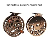 Aventik Z 2nd Generation High Reel Feet Center-Pin Floating Reel CNC machined Easy Line through (Coffee)