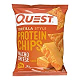 Tortilla Style Protein Chips, Low Carb, Nacho Cheese 1.1 Ounce (Pack of 12) - 1