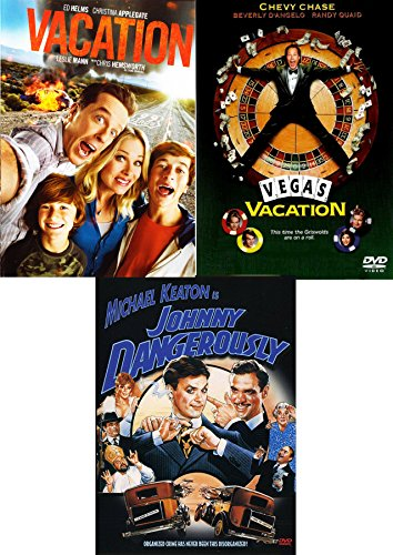 Buckle Up Comedy Triple Feature Funny Pack: Vegas Vacation Chevy Chase + 2015 Vacation & Johnny Dangerously 3 Movie ()