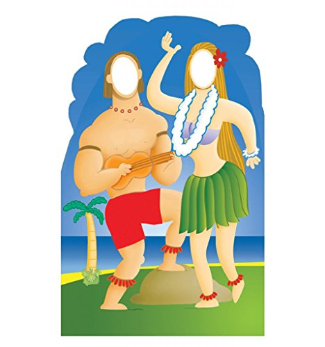 Hawaiians with Ukelele Stand-In - Advanced Graphics Life Size Cardboard (Cardboard Stand Ins)