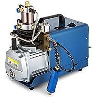 HUKOER Bomba de compresor de aire eléctrica de alta presión (300BAR 30MPA 4500PSI) Control automático, Bomba de aire con Sistema de alta presión Rifle, Inflador de PCP para botella de inflado