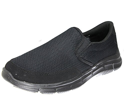 Equalizer sintético de nbsp;Persistent Black hombre zapatilla Skechers material Black deportiva dYq57