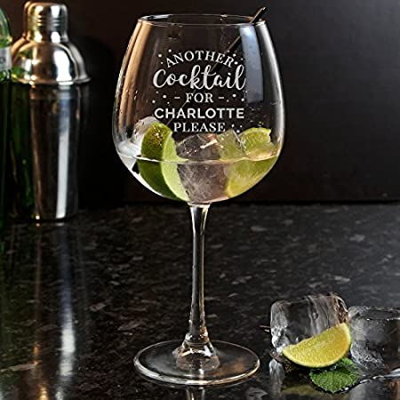 Personalised Copper Gin Balloon Glass