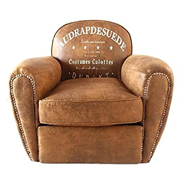 DiiliHiiri Sillón Vintage marrón, sillón, butaca Individual ...