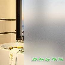 New Lifetree No-glue Vinyl Privacy Window Film Frosted Window Film Decorative Window Film Stained Glass Refraction...