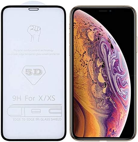 2019 Tempered Glass Film for iPhone YSH Cell Phone Accessories 25 PCS 9H 9D Full Screen Tempered Glass Screen Protector for iPhone X//XS//XI