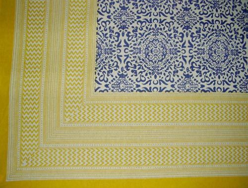 (India Arts Moroccan Print Square Cotton Tablecloth 70