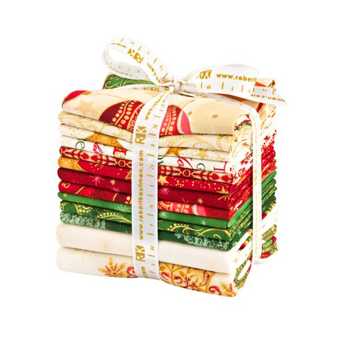 Winters Grandeur 5 Holiday 10 Fat Quarters 2 Panels Robert Kaufman Fabrics FQ-1196-12 by Robert Kaufman Fabrics