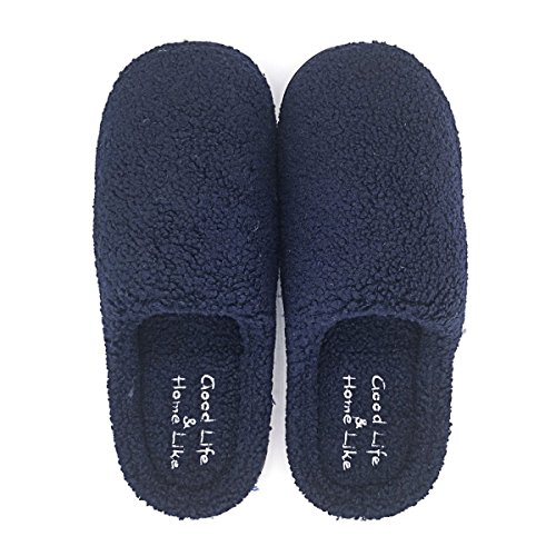 Indoor 1172 Autumn Home for Mens Winter Shoes Flax Spring Slippers House Cotton with Summer Womens Blue Navy Paangkei qZAxvw