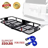 Hitch Cargo Carrier 60' x 22' by Stay There - Haul Your Gear with This Rugged Steel Constructed Hitch Storage Rack for Your Truck or SUV - Hitch Rack Easily Mounts to Trailer Towing Hitche