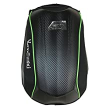 GYFQLOutdoors riding a hard shell of carbon fiber backpack