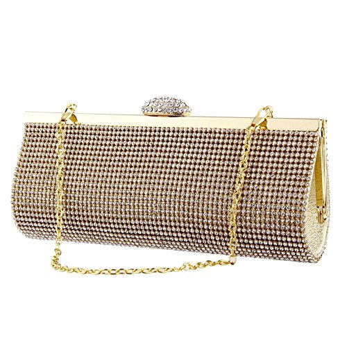 Gold Evening Party Studded Banquet Gold Purse Glitter Clutch Evening Wedding Bag Bag Shoulder Diamond Luxury Bag Handbag Wallets Middle Women TOPCHANCES pxwYqR5Sp