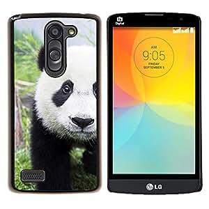 - Panda Cute Face - - Cubierta del caso de impacto con el patr??n Art Designs FOR LG L Bello L Prime D337 Queen Pattern