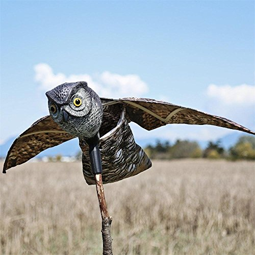 MTL Scarecrow Bird Repellent Owl Pest Deterrent with Movi...