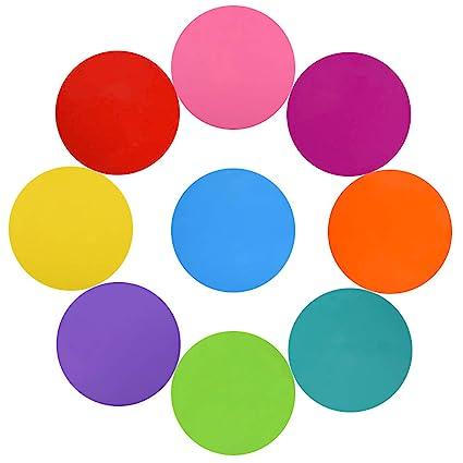 Asiv - Lote de 10 círculos de borrado en seco para pizarras ...