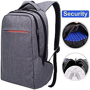 LAPACKER 15.6 Anti Theft Slim Water Resistant Laptop Backpack Bag for Men&Women Lightweight Business Travel College Computer Backpacks for Laptop in Dark Grey