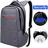 LAPACKER 15.6 Anti Theft Slim Water Resistant Laptop Backpack Bag for Men&Women Lightweight Business Travel College Computer Backpacks for Laptop in Dark Grey