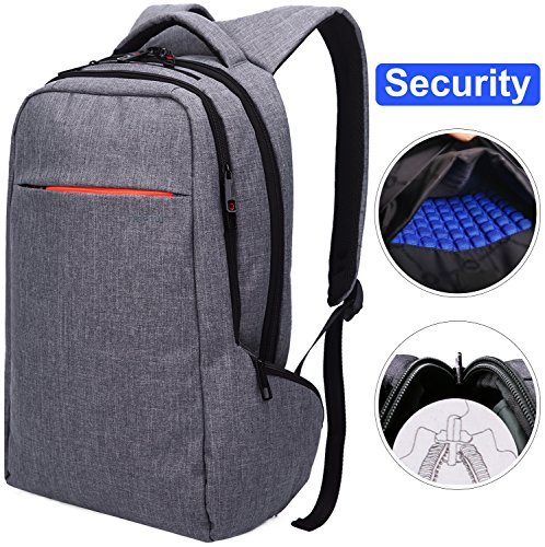 Travel Outdoor Computer Backpack Laptop Bag (Grey) - 9