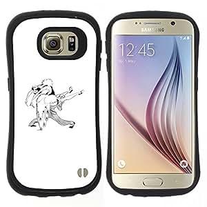 "Pulsar iFace Series Tpu silicona Carcasa Funda Case para Samsung Galaxy S6 , Blanco Pares del baile del bailarín de Amor"""