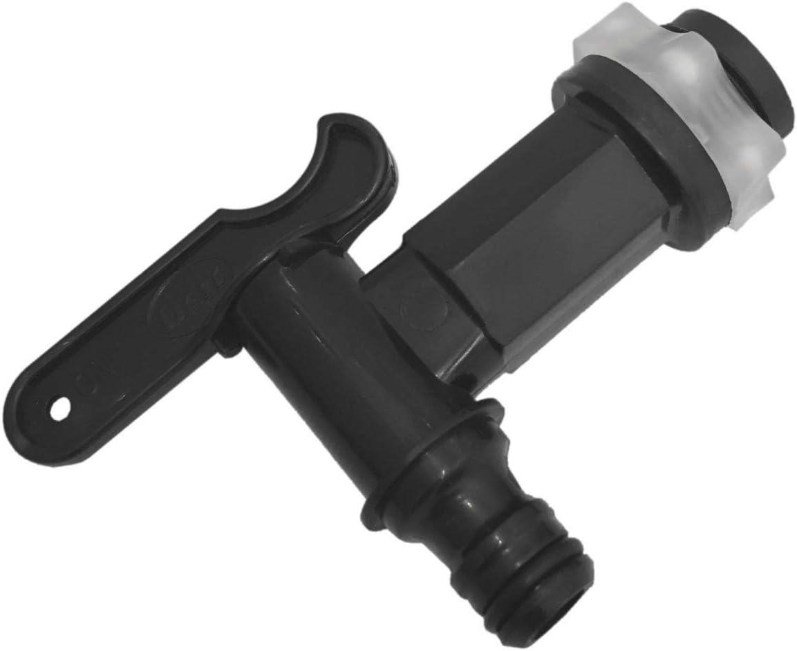 Bulk Hardware Llave de grifo, plástico, color negro