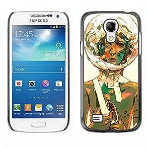 Shell-Star Art & Design plastique dur Coque de protection rigide pour Cas Case pour SAMSUNG Galaxy S4 mini VERSION! / i9190 / i9192 ( Bubble Portrait Art Space Suit Girl Curly )