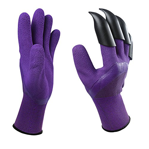 Special Features: -Make yard work fun again and hassle free with these amazing garden gloves. -Easy to clean - flush with water and machine washable. -The built in gardening claws make digging, planting, raking, fast and easy. -These gardenin...