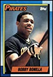 1990 Topps Baseball #273 Bobby Bonilla Pittsburgh Pirates Official MLB Trading Card (stock photos used) Near Mint or better condition