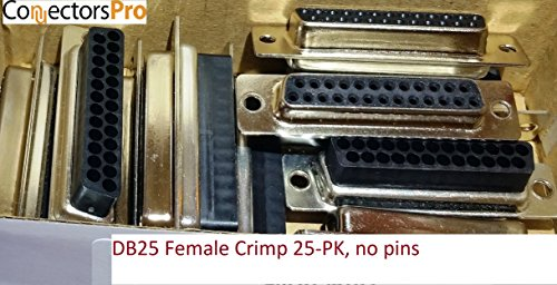 Pc Accessories - Connectors Pro DB25 Female D-Sub Crimp Type Connector, 25-PK No Pins