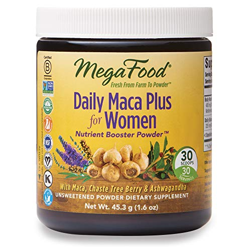 MegaFood, Daily Maca Plus for Women Powder, Helps Maintain Hormonal Balance, Drink Mix Supplement, Gluten Free, Vegan, 1.6 oz (30 Servings) (FFP)