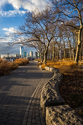 Peaceful Sunset Battery Park During Golden Hour New York City NYC Photo Art Print Poster - Hours Park Center City