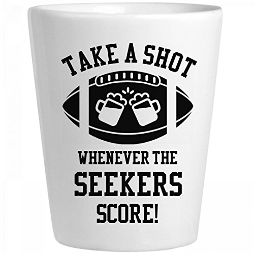 Take A Shot Whenever Seekers Score: Ceramic Shot Glass -